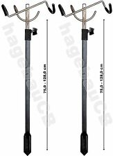 2xZEBCO Rutenhalter Rutenständer Rutenauflage Klapprutenhalter 75-128cm