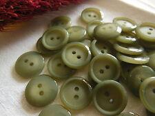 Lot 30 petits  boutons vintage gris classic 2 trous rebord 1,1 cm ref 1159