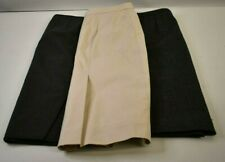 J.Crew Women's Size 2 Wool & Cotton Straight Pencil Career Work Skirts Lot of 3