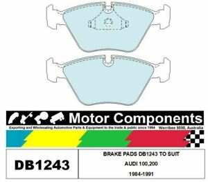 BRAKE PADS DB1243 TO SUIT AUDI 100,200 1984-1991 (A.T.E BREAK ONLY)