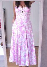 OSCAR DE LA RENTA Dress RUNWAY White Pink Amazing!! Size 6 4 Spring 2004 XS