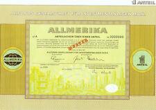 """Zertifikat über 1 Anteil des Investmentfonds """"ALLMERIKA"""""""