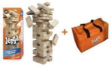 Jenga GIANT Genuine Hardwood Game & Carry Bag (Bundle) (Stacks to 4+ feet....