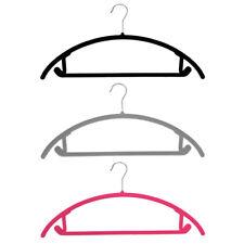 JVL 20 Pack Thin Velvet Touch Space Saving Non-slip Coat Hangers
