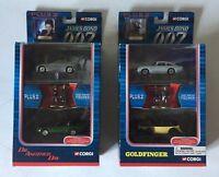 CORGI  JAMES BOND 007 TY 95901 & 95902 DIE ANOTHER DAY & GOLDFINGER SETS FIGURES
