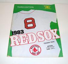 1983 Boston Red Sox Official Scorebook Magazine, 3rd Edition