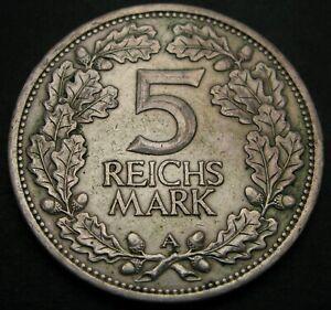 GERMANY (Weimar Republic) 5 Reichmark 1925 A - Silver - Rhineland - VF - 486