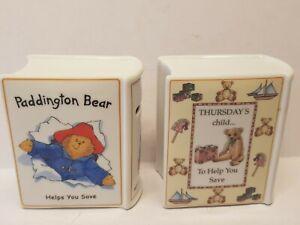 "Royal Worcester ""Thursday's Child""  & Paddington Bear Money Boxes"