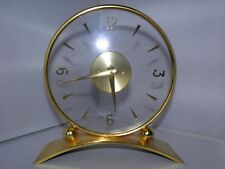 Stylish Jaeger Le Coultre Mystery Glass 8 Day Mantel Clock - Excellent Condition