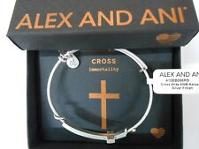 Alex and Ani Spiritual Armour Cross Wrap Expandable Wire Bangle Bracelet NWTBC