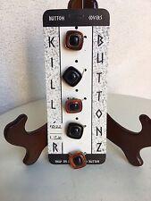 Vintage Killer Button Covers Faux Stone Square Set 5