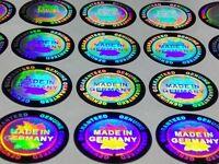 Made in Germany 3D Hologramm Siegel Aufkleber Garantiesiegel Antifake 256 Stück