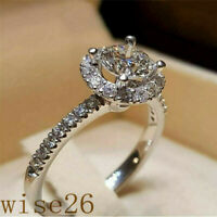 Fashion 925 Silver Filled Wedding Women's Rings White Sapphire Ring Size 5-12