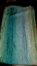 Teal Green Ombre Shower Curtain shimmery crinkle  light green/ Teal / Dark green