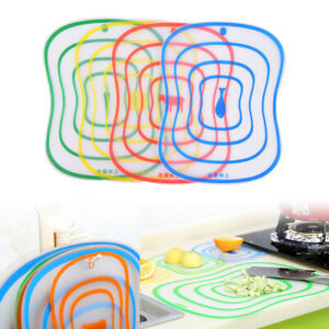 2pcs Chopping Tool Flexible Non-slip Frosted Cutting Board Kitchen Accessori_fr