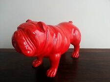 """SALE"", Bulldog, large, 29cm standing, handmade, resin, decorative, modern"