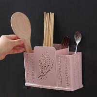 CW_ HN- 2/3 Grids Kitchen Desktop Hollow Chopsticks Spoon Storage Drain Holder R