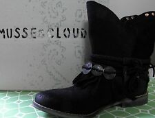 MUSSE & CLOUD Anaeh Black Leather Ankle Boots Size EU 39