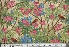 """1 yard Springs """"Prism Gardens"""" Birds in Branches Fabric"""