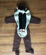 Tasmanian Devil Halloween Costume Kids Small Taz Warm Brown One Piece