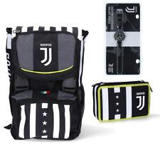 Juventus Kit Zaino Big  +  Astuccio con Matite Scuola 2020/21 Seven + Orologio
