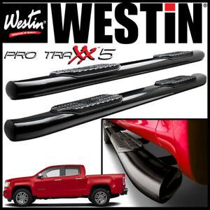 "Westin Pro Traxx 5"" Oval Nerf Step Bars 2015-2021 GMC Canyon Crew Cab BLACK"
