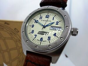 FOSSIL DE-1504 . Modern Vintage Wristwatch . Armbanduhr . Timeless Style . Retro