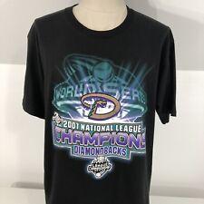 Vintage 2001 Arizona Diamondbacks Black NL CHAMPIONS T Shirt Men's Large MLB