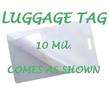Corbin Quality 10 Mil LUGGAGE TAGS Laminating Pouches W/Slot 2-1/2 x 4-1/4 200