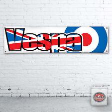Vespa UK Fahne Banner – Heavy Duty für Werkstatt, Garage, Mancave Roller
