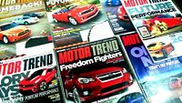 Motor Trend Magazines 2011 Feb-August (lot of 7)