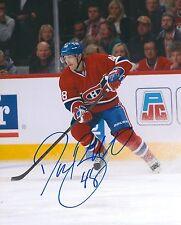 DANIEL BRIERE signed MONTREAL CANADIENS 8X10 PHOTO COA