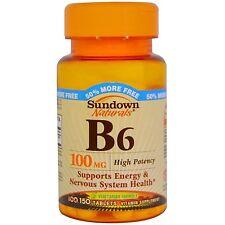 Sundown Naturals Vitamin B-6 100 Mg, 150 Count