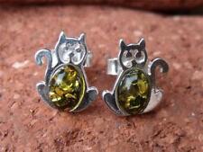Pendientes de joyería con gemas mariposas ámbar