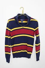 Polo Ralph Lauren~Boy's Size L~Striped~1/4 (1/2 Zip) Sweater~Blue~Red~Yellow~