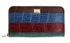 NEW $2980 DOLCE & GABBANA Wallet Crocodile Skin Leather Continental Clutch Bag