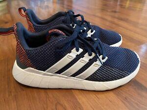 Boys Size 6 Youth Adidas Navy Orange Athletic Shoes