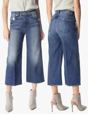 NWT 7 For All Mankind Culottes Jeans in Rigid Lake Blue 27