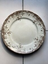 """Wood & Sons Brown Floral Transferware Plate Floral 10"""" Milton Royal England"""