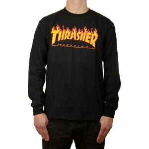 Thrasher Flame black Longsleeve