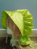 Adult Baby Fancy Dress Satin Cute Bonnet Hat Cap Victorian Edwardian Sissy Maid