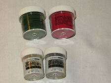 Embossing Powders, Ranger Ind. Red & Evergreen, All Night Media Silver & Gold
