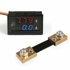 NUOVO DROK Voltmetro Amperometro Digitale con Corrente di Shunt DC 12V/24V 50A