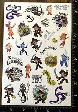 JAKE AND THE NEVER LAND PIRATES BY DISNEY, SHEET OF BEAUTIFUL STICKERS #JK15