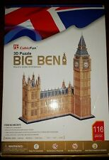 3d puzzle Big Ben Cubic Fun 116 pieces Landmark World's greatest Architecture!!!