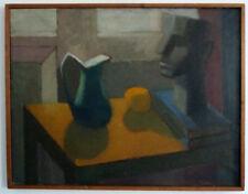 Naturaleza muerta con jarra y porträtkopf, MODERNO, medio 20. siglo Firmado: