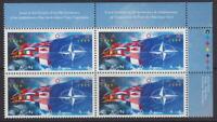 CANADA #1809 46¢ NATO, 50th Anniversary UR Inscription Block MNH