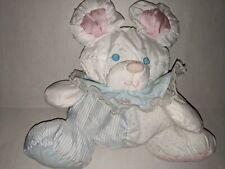 Fisher Price Puffalump Mouse Plush Squish Mouse Rattle 1988 Pink Blue White