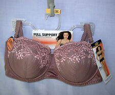 38C Inspirations Maidenform Balconette Bra Full Support Convertible 6033 mauve