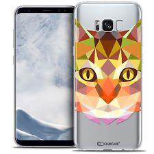 Cover Custodia Per Samsung Galaxy S8 G950 Polygon Animale Flessibile Fine Gatto